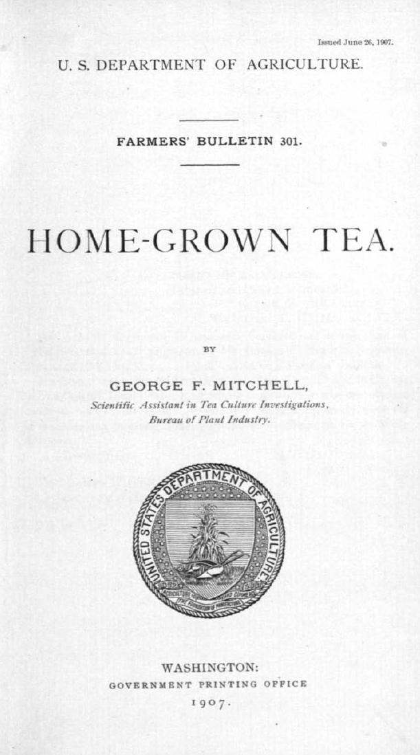 Homegrown tea cover